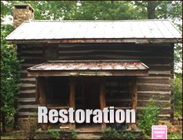 Log Cabin Restoration  Licking County, Ohio
